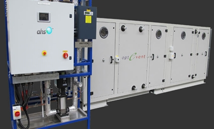 Condair provides evaporative cooling in the innovative OptEvent air handling unit
