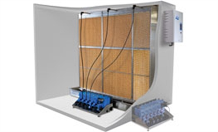 In-duct adiabatic humidifiers
