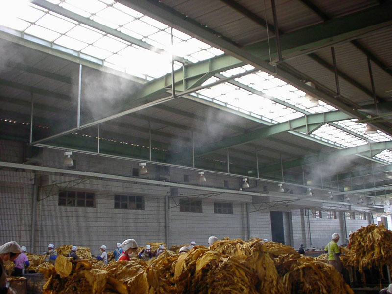 Tobacco manufacture humidification
